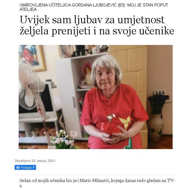 """Naša korisnica u Glasu Slavonije: """" Puno mi znače gerontodomaćice udruge Spiritus"""""""