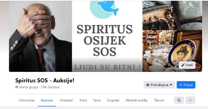 Šopingirajte bez grižnje savjesti – postanite član FB grupe Spiritus SOS- Aukcije!